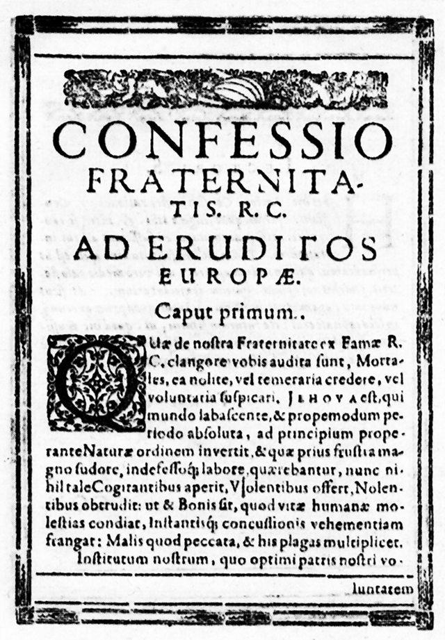 O knihách: Alchymická svatba C.R.C. je již připravena k tisku, kniha Confessio Fraternitatis je již ve stavu poslední korektury!